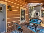 Gather with your loved ones on the furnished porch.