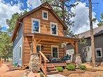 Unwind in this 2-bedroom, 1.5-bathroom vacation rental cabin in Woodland Park.