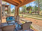 With a furnished porch, high-end amenities, & beds for 8, this home can't be beat.