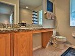 The en-suite bathroom is just as beautiful as the bedroom.