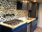 new modern kitchen with gas cooktop