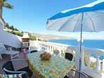 Spacious terraces with beautiful sea views