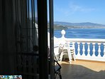 this is the view from the bed to the sea