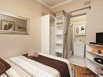 Bedroom with en suite bathroom.  Linen and hair dryer supplied.