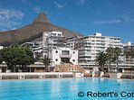 Olympic size Sea Point swimming pool (sea water) within walking distance.  Pool towels supplied.