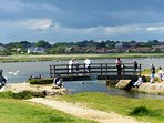 Our local nature reserve and the popular crabbing bridge