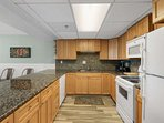 Fully equipped kitchen with everything you need.