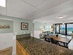Plenty of counter space for entertaining.