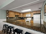 Fabulous upgraded kitchen with granite counter tops.