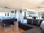Large groups are spoilt with variety of activities avail. in this apartment!