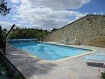 piscine chauffée des deux chambres