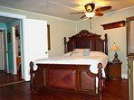 Queen Tommy Bahama Leather bed in Master Bedroom