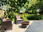 Harewood cottage garden overlooking the Manifold Valley