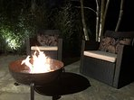 Long summer evenings on the patio with Indian Fire Bowl