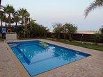 The beautiful pool area.
