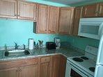 Fully remodeled full kitchen.