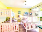 Bunk Room - sure to be a favorite opens to shaded balcony