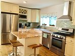 Eat in kitchen with 4 stools