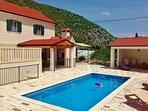 traditional stone in the Dalmatian mountains quiet private and easily accessible from highway