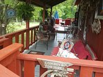 Front deck for bird watching and grilling
