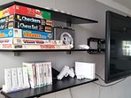Nintendo Wii, 4 remotes, many accessories, board games & poker chip set avail.