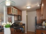 Kitchen area with full appliances/Dining area