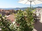 terrasse avec vue mer panoramique