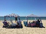 Tristram's private beach, 10 min walk. Never crowded.