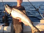 Catch giant King Salmon aboard First Choice Charters.  Request captain Bill ... he is great!!!
