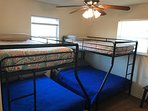 Bunk room sleeps six. Two twin and two full beds. Kids love it!
