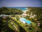 Bird´s eye view of the residence area in Playa Las Ballenas