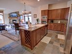 Open layout condo great for cooking family meals and holiday meals.