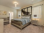 Master Suite - King size bed + Baby Crib