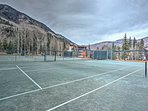 Bring out your competitive side during a tennis match at the Vail Racquet Club!
