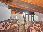 The loft is like a treehouse for the kiddos.  Low ceilings so adult use is not recommended.
