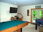 Pool Table & Foosball Table in Gameroom