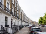 The beautiful early Victorian terrace (1846) in which the house is located