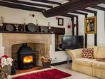 Stylish furnishings, underfloor heating and a roaring log burner