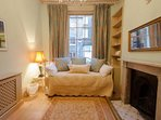 Rear sitting room (First Floor  bedroom):  this 'day bed' has another full single bed beneath it
