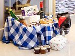 A welcome,hamper to get you started - and we also provide some milk, bread and butter