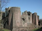 Goodrich Castle, a short walk, rich in history.
