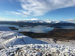 Wintyer view of Loch Lomond from Conic Hill just 3 miles from the property