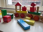 Toys set out for little people - and there are many more (toys, not little people . . .)