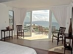 View of St Martee and the Caribbean from the Master bedroom in the main villa