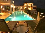 The peaceful warm night at the Villa