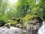 Une rivière borde la propriété et vous pouvez vous y baigner selon la saison