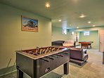 Get your competitive juices flowing on the fooseball table.