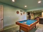 There is also a pool table in the lower level.
