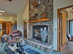 Eliminate your winter chill with the gas fireplace.