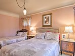 This bedroom has a sumptuous queen and full mattress.